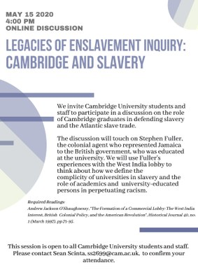 Cambridge and slavery