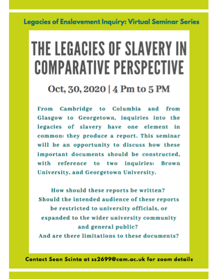 Legacies of slavery comparative perspective
