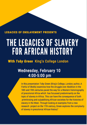 Legacies of slavery for African history